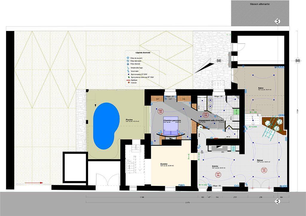 Maison de village tony porta designer d 39 espaces for Realisation de plan de maison